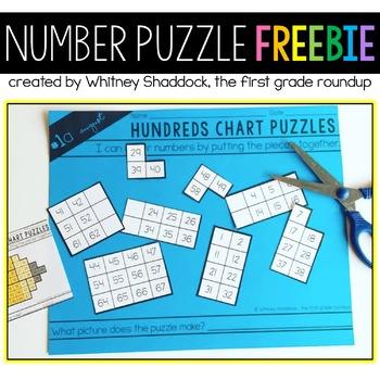 Hundreds Chart Puzzle FREEBIE