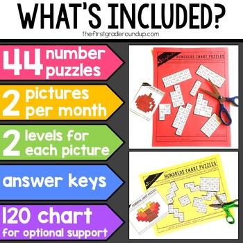 Hundreds Chart Puzzles *GROWING BUNDLE*
