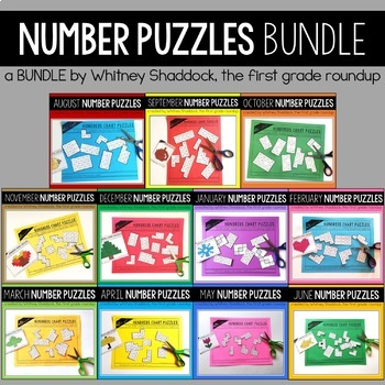Hundreds Chart Puzzles BUNDLE