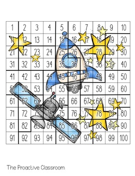 Hundreds Chart Puzzles BUNDLE- Number Sense Activities on 100s Chart!