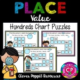Hundreds Chart Puzzles - Fill in the missing numbers