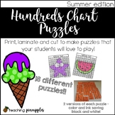 Hundreds Chart Puzzles - Summer Edition!