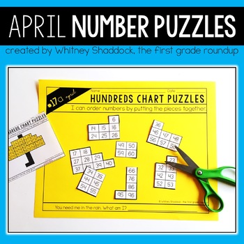 Hundreds Chart Puzzles for April