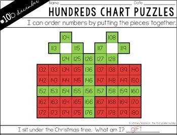 Hundreds Chart Puzzles for December