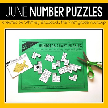 Hundreds Chart Puzzles for June
