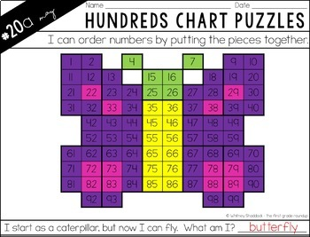 Hundreds Chart Puzzles for May