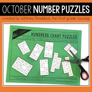 Hundreds Chart Puzzles for October
