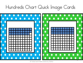 Hundreds Chart Quick Images Cards 1-100