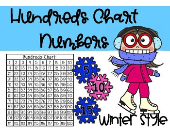 Hundreds Chart Replacement Cards: Winter Themed