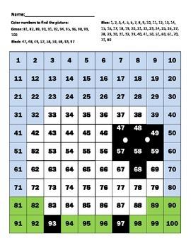 "Hundreds Chart ""Sheep"""