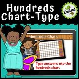Hundreds Chart - Student Type in Numbers - Boom Learning Cards