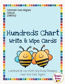 Hundreds Chart Task Card ~ Write & Wipe Bundle