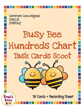 Hundreds Chart Task Cards Scoot