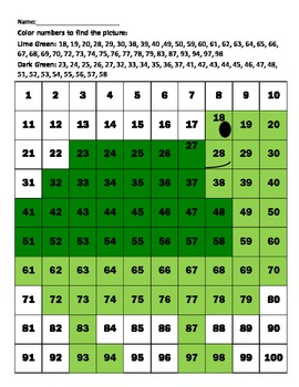 "Hundreds Chart ""Turtle"""