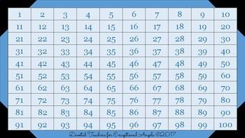 Hundreds Chart Value Pack