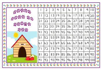 Hundreds Chart Word References and Count Down Chart