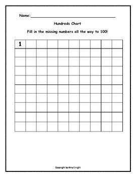 Hundreds Chart Work