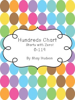 Hundreds Chart (this one starts with 0!)