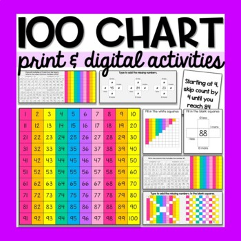Hundreds Chart with Task Cards