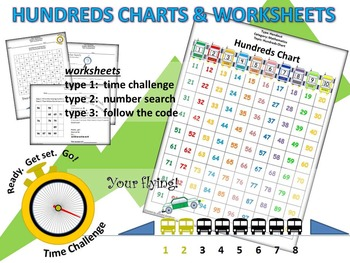 Hundreds Chart with Worksheets