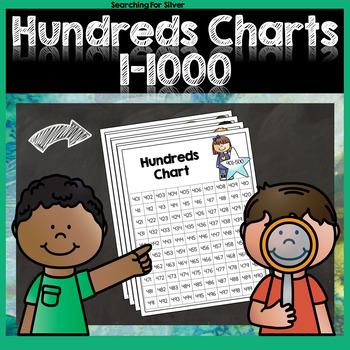 Hundreds Charts 1-1000 No-Prep