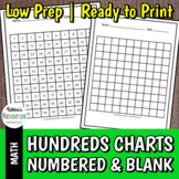 Hundreds Charts - Blank & Numbered