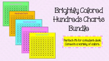 Colorful Hundreds Chart Bundle