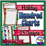 Christmas Hundreds Charts - Christmas Holidays Theme