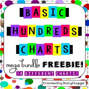 Hundreds Charts FREEBIE