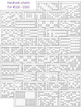 Hundreds Charts - Fill In Activities