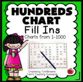 Hundreds Charts Activities Missing Numbers