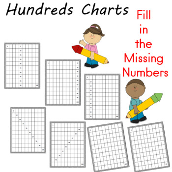 Hundreds Charts Fill in the Missing Numbers
