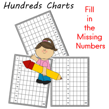 Hundreds Charts Fill in the Missing Numbers Second Grade Math