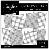 FREE Hundreds Charts {Graphics for Commercial Use}