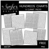 FREE Hundreds Charts Clipart {A Hughes Design}