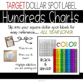 Hundreds Charts - Perfect for Target Dollar Spot Labels!