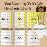 Hundreds Charts   Skip Counting 2's, 5's, 10s