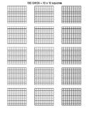 Hundreds Grids - 10 x 10 squares- 15 per page