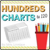 Hundreds Number Charts:  36 charts from 1-10 to 1-120 number recognition
