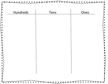 Hundreds Place Value Chart