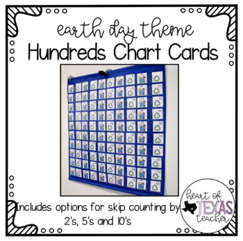 Hundreds Pocket Chart Cards - Earth Day Theme