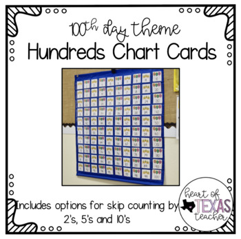 Hundreds Pocket Chart Cards - One Hundredth Day Theme