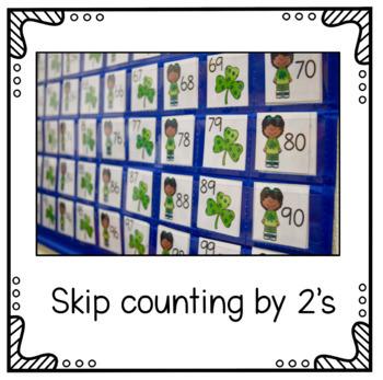 Hundreds Pocket Chart Cards - St. Patrick's Day Theme