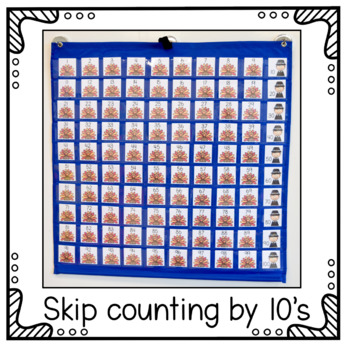 Hundreds Pocket Chart Cards - Thanksgiving Theme