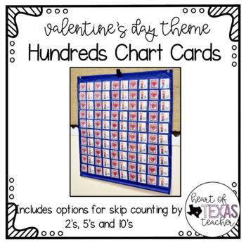 Hundreds Pocket Chart Cards - Valentine's Day Theme