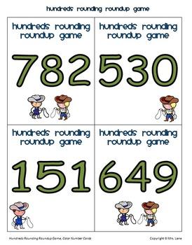 Hundreds Rounding Roundup Game