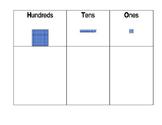 Hundreds, Ten, Ones Printable Chart