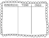 Hundreds, Tens, Ones Math Mat