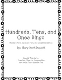 Hundreds, Tens, and Ones Bingo Cards
