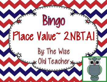 Hundreds, Tens, and Ones Bingo Game PPT with Blank Bingo Card 2.NBT.A.1
